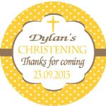 Personalised Boy or Girl Christening Sticker Design 7